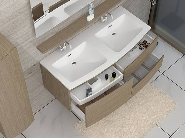 China Pricelist For Bathroom Corner Unit Morden Hot Sale Double Basin Bathroon Cabinet 1805090 Kazhongao Manufacturers And Suppliers Kazhongao