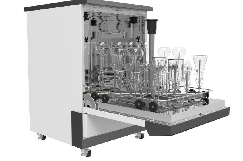 Is the automatic laboratory glassware washer really easy to use?