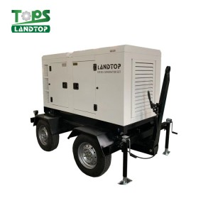 LANDTOP Cummins Engine Diesel Generator Set with movable  trailer type