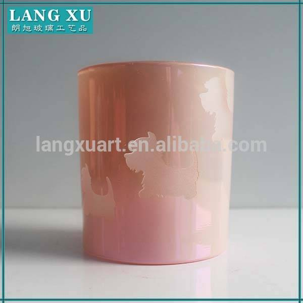wax glass candle container with lid