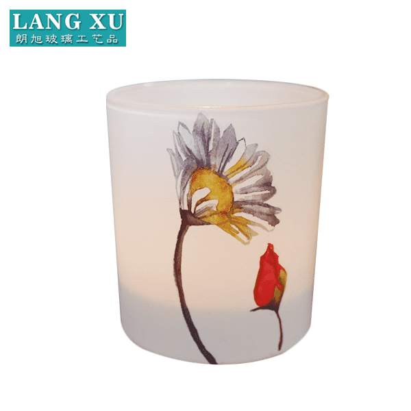 new design frosted wholesale glass votive candle holders