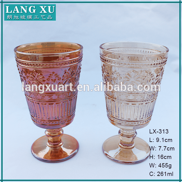 Low price for Personalized Wine Glasses - Hand pressed wholesale wine glass colored goblets – Langxu