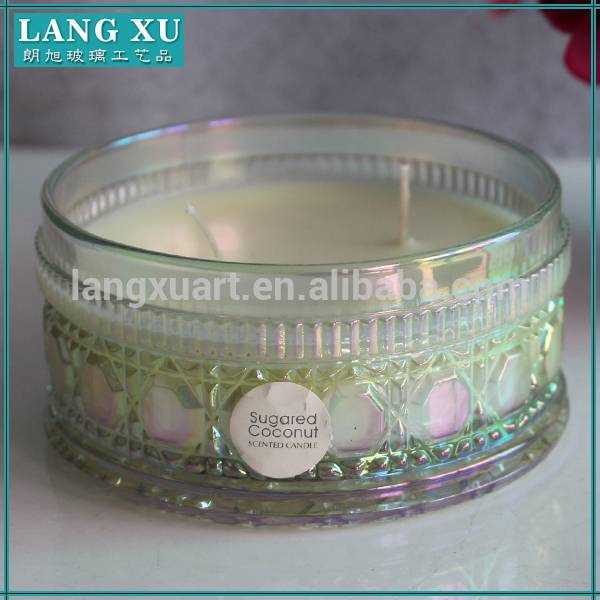 Alibaba factory paraffin candle wax amber candle jar