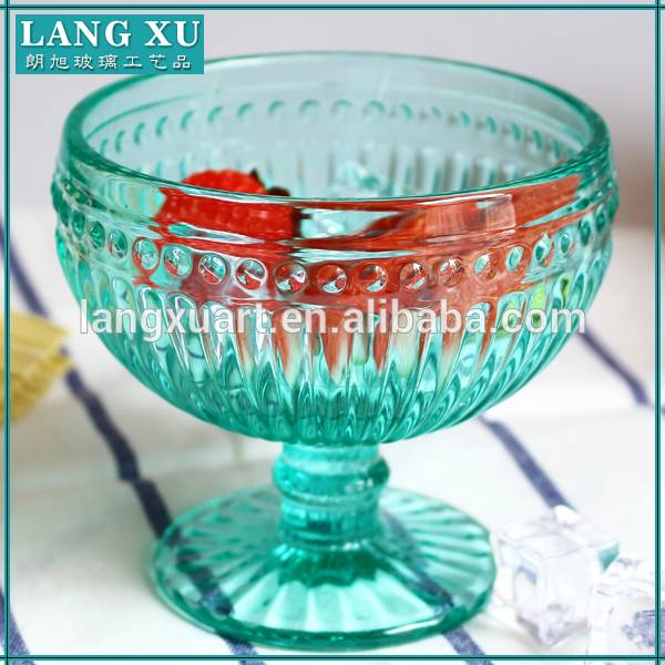 Rapid Delivery for Pineapple Candle Holder - high quality blue ice-crean cup with base – Langxu