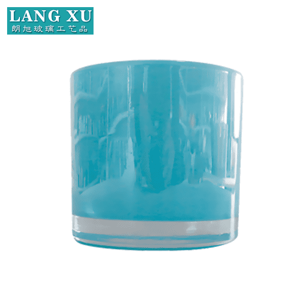 LXHY778 Empty large colored candle glass container