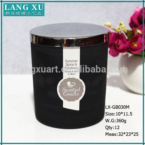 High Quality Glass Candle Jar - black candle private label soy candle wax – Langxu