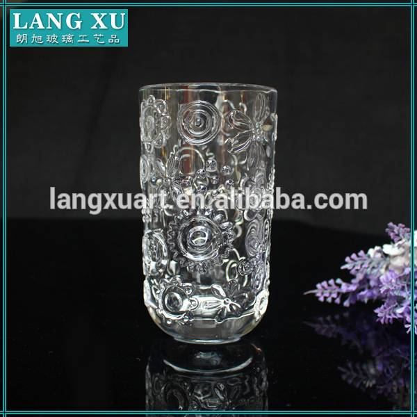 High reputation Glass Of Wine - Handmade clear glass tumble with round bottom long drink glass – Langxu