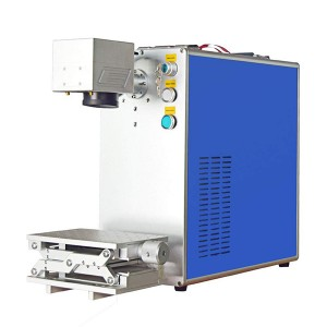 Factory wholesale Cabinet Fiber Laser Marking Machine - 20W Integrated Fiber Laser Marking Machine EZ Cad FDA Certified for Metal – Mingjue