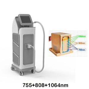 Best price 755+808+1064 diode laser hair removal machine for salon