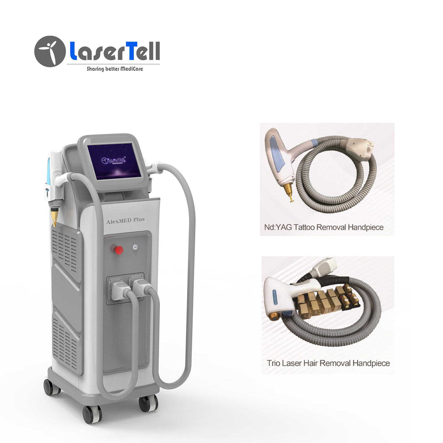 TUV Medical CE approved 755 808 1064nm laser hair removal / diode laser 755 808 1064 with alexandrite laser diode nd yag Featured Image