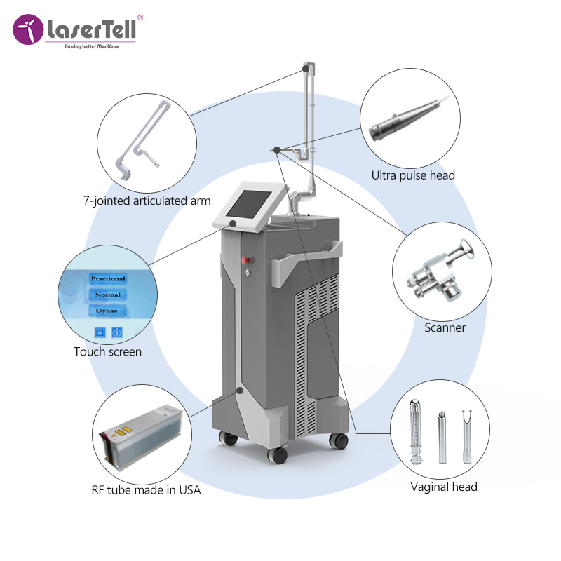 Salon beauty body  co2 fractional  machine for skin resurfacing /acne scar removal co2 laser skin machine
