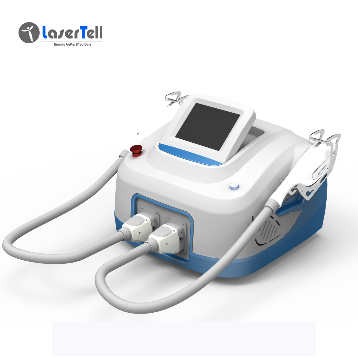 Portable new technology product hair removal IPL+RF Skin Rejuvenation two handpieces ipl+rf China sale