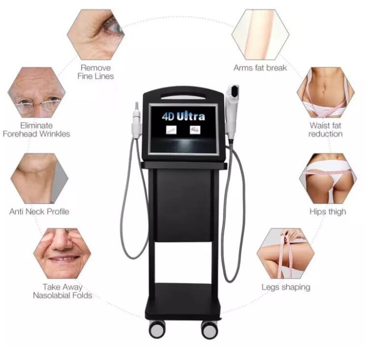 Popular beauty machine skin rejuvenation rinkle removal ultrasonic 4D Vmax H (6)