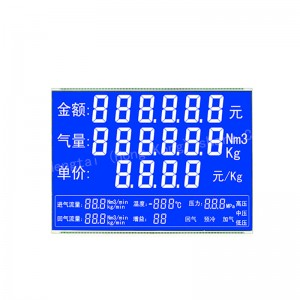 6 digit 70 pin fuel dispenser lcd display