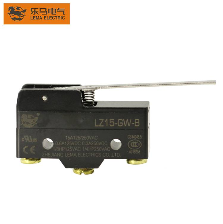 China Wholesale Micro Oven Switches Pricelist –  High quality Lema LZ15-GW-B mechanical hinge lever micro switch(lxw-16a) – Lema