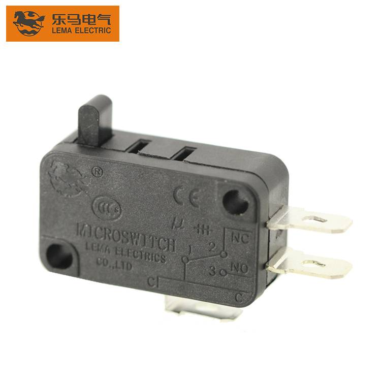 High Quality KW7-01 Black 16A 250VAC Long Button Electric Micro Switch