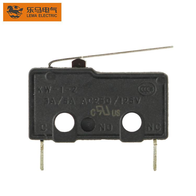 Lema KW12-1SB straight terminal 5a subminiature micro switch latching micro switch