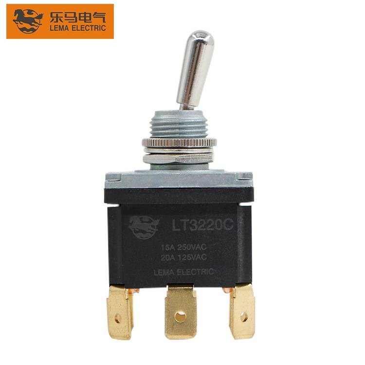 LT3220C 15a 125/250VAC  3 Pin Toggle Switch Wiring