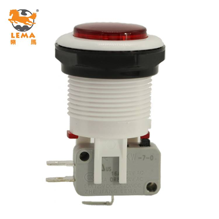 Lema momentary on off push button micro switch, push button reset switch