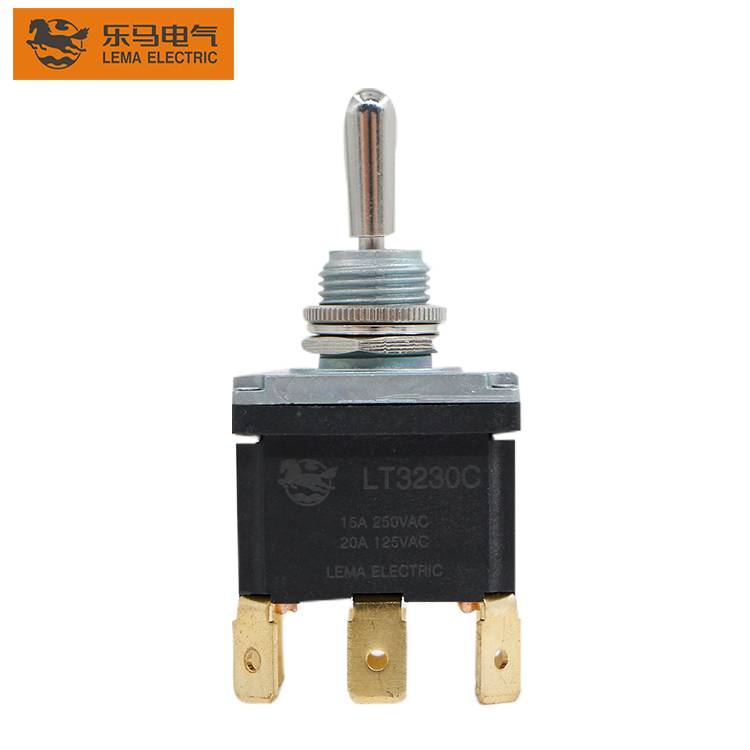 LT3230C Spade terminal heavy duty toggle Switch DPDT ON/OFF