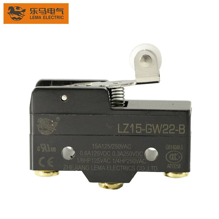 Lema Short Hinge Roller Lever Actuator 1/4HP Automation Control Matsushita Micro Switch