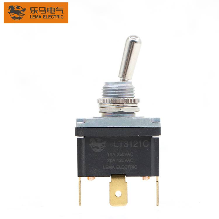 Lema LT3121C ON-OFF  Terminal 15A 250VAC 3 Pin Toggle Switch