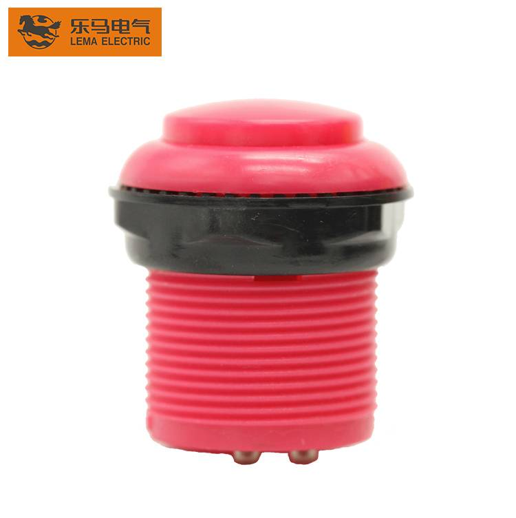 Factory supply Lema PBS-009 red plastic low voltage push button micro switch