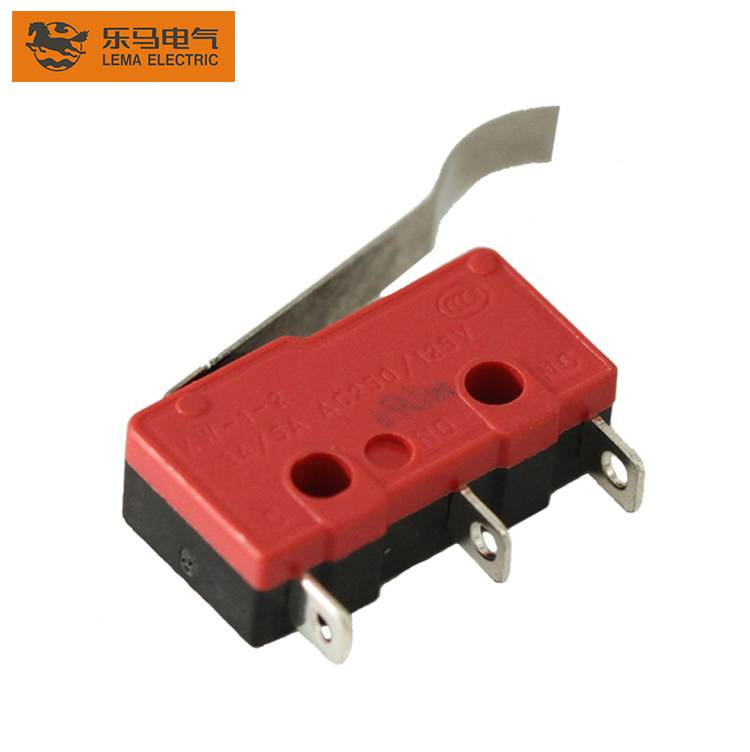 Fast delivery Mini Micro Switch For Dental - Lema KW12-6 bent lever kw3 oz micro switch ms4-16t electrical plastic pressure switch for home appliance – Lema