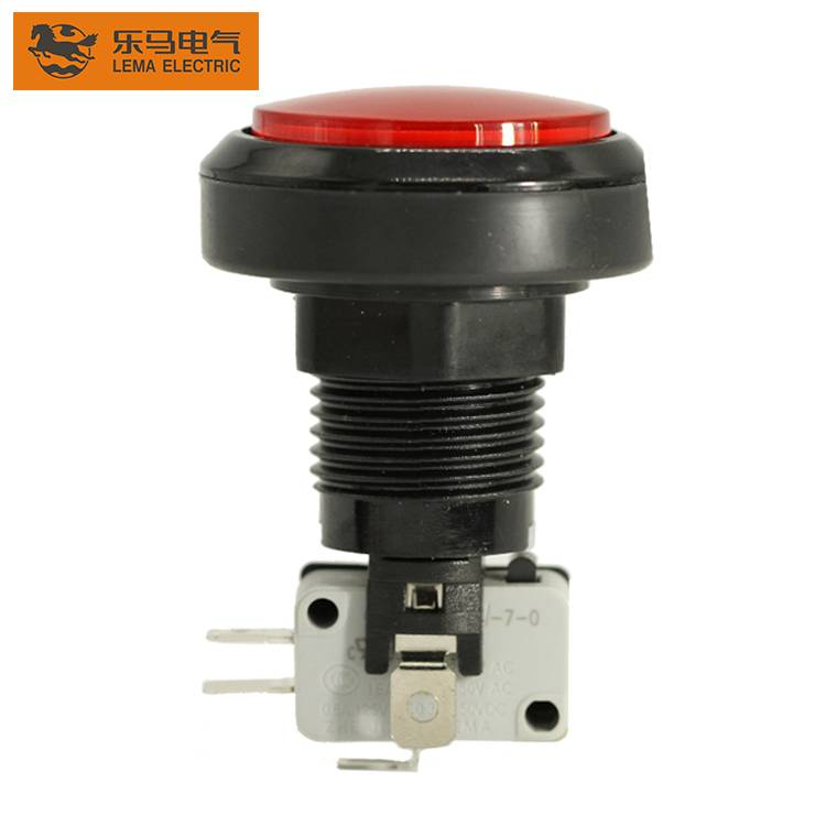 Lema PBS-004 46mm game accessory red led plastic push button switch