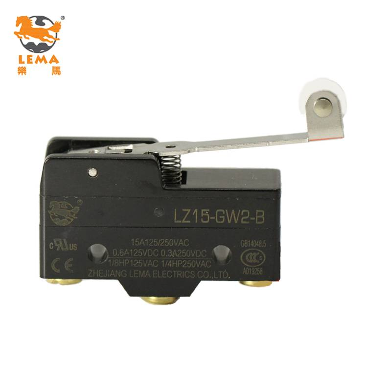 Lema LZ15-GW2-B hinge plastic roller lever micro switch 250v ac micro switch t105 5e4