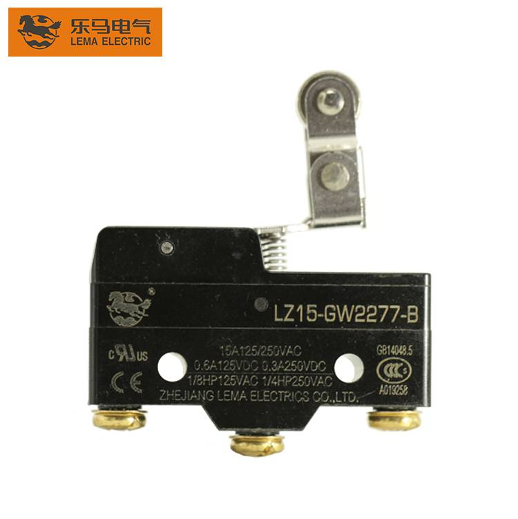 Lema LZ15-GW2277-B one way short hinge roller lever micro switch mechanical lever switch