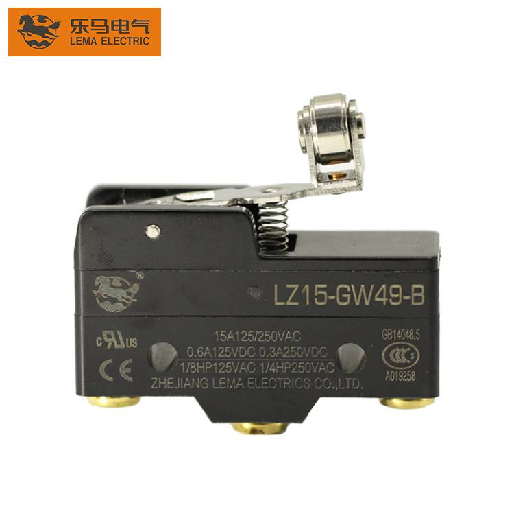 Lema LZ15-GW49-B short hinge cross roller lever limit switch 5a 250vac limit switch