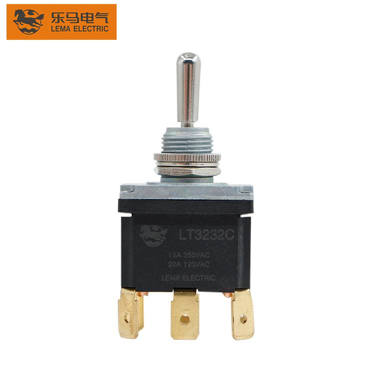 China Wholesale On Off On Toggle Switch Quotes –  Wholesale 6 pin dpdt momentary 15V 125/250VAC  toggle switch – Lema
