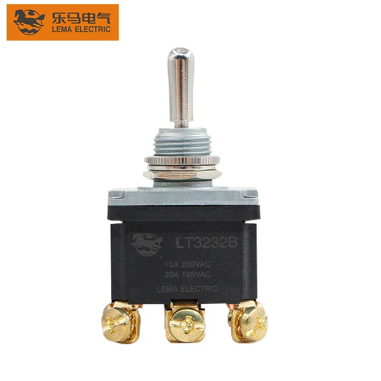 LT3232B  Type SPST ON-OFF  15A 250V 12v toggle switch 6pin