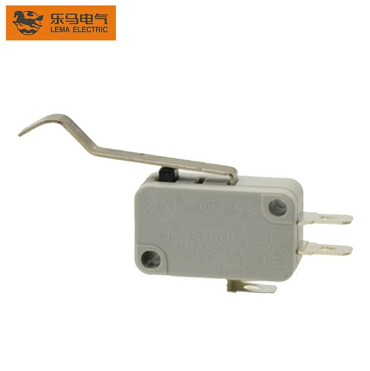 Best quality Kw12 Micro Switch - Lema KW7-96 approved bent lever actuator micro switch 5e4 25t85 microswitch – Lema