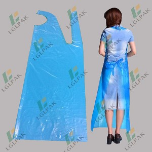 Factory Supply China Disposable Waterproof Long Plastic PE Individual Packed Disposable Apron