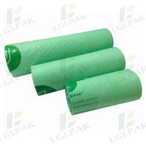 8 Years Exporter China Eco 100% Biodegradable Cornstarch Compostable Bin Liner Bags