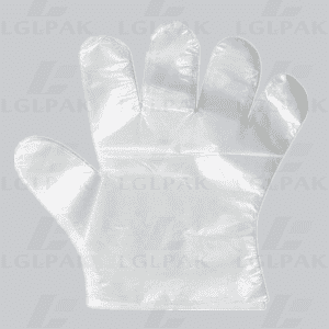 Disposable plastic HDPE gloves