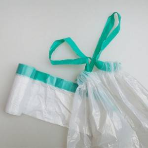 HDPE trash bag on roll for home use