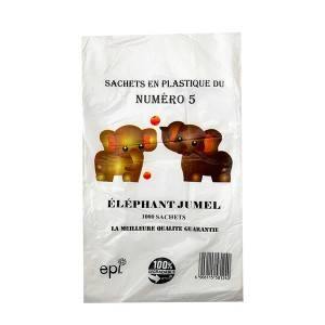 HDPE transparent flat poly bags for Africa