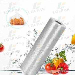 HDPE plastic sandwich bags on roll
