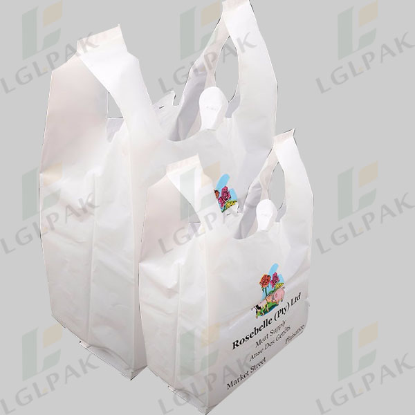 Multi Color Printing Shopping Supermarket Plastic T-shirt Bag Featured Image
