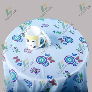 Disposable  plastic table cloth  with printing
