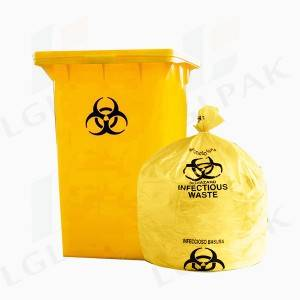 Factory For China Factory Wholesale Medical Biohazard Waste Garbage Bag, Hospital Regulated Medical Waste Bag for Biohazard Infectious Garbage Bags, Medical Trash Bag