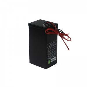 2000+ cycle life metallic casing 12V 12Ah LiFePO4 battery for lighting system