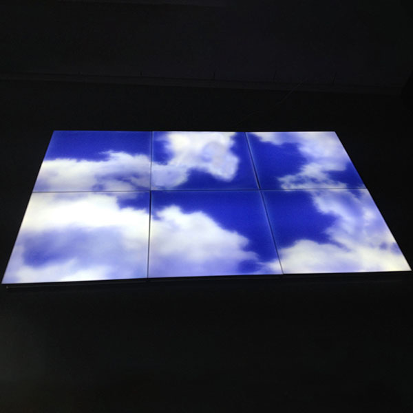 AC 220-24V 20W 30×30 Square Seamless LED Ceiling Blue Sky Panel Light