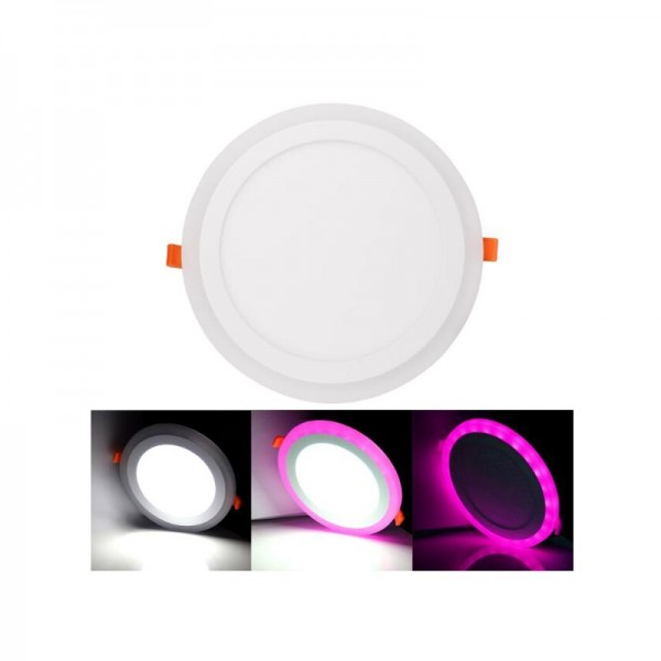 6W+3W Recessed Dimmable Round Dual Color LED Ceiling Panel Downlight