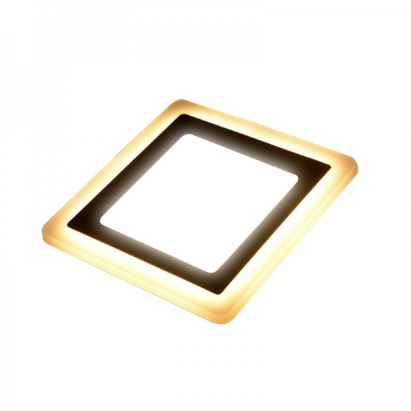 3W 6W 145x145mm Square RGB Double Color LED Ceiling Panel Lamp