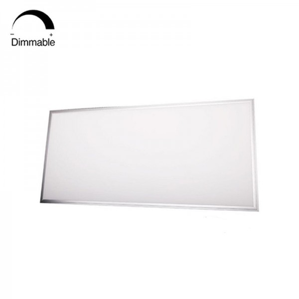 White Silver Frame 1200×600 Dimming LED Panel Light Fixtures