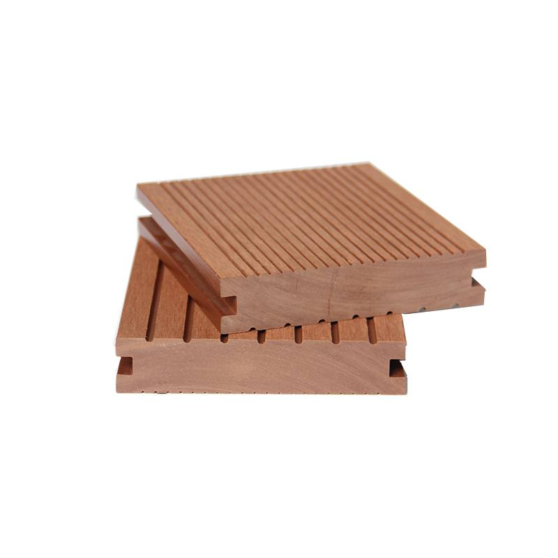 Good Weather Ability Wood WPC Solid Decking for Exterior